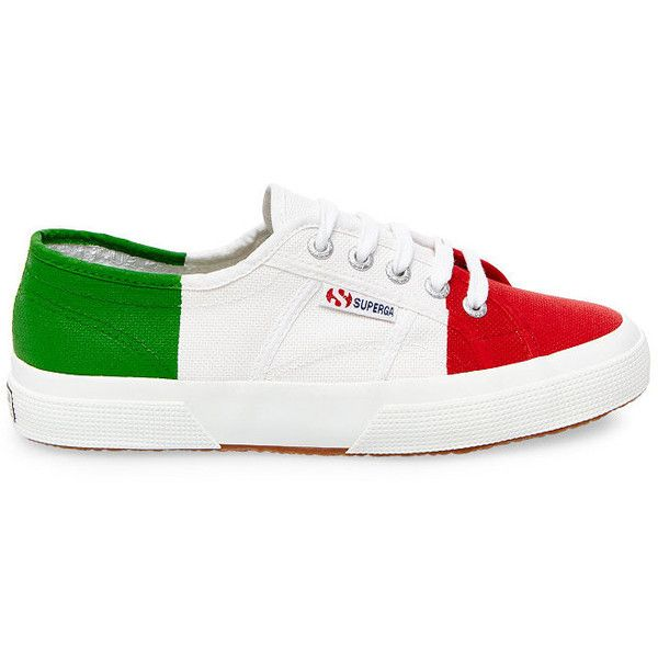 Superga 2750 COTU FLAG ITALIA Women's Low Top Sneakers ($50) ❤ liked on Polyvore featuring shoes, sneakers, mens low profile shoes, men's low top sneakers, mens platform sneakers, mens low profile sneakers and mens shoes