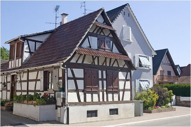 Betschdorf : maison de village