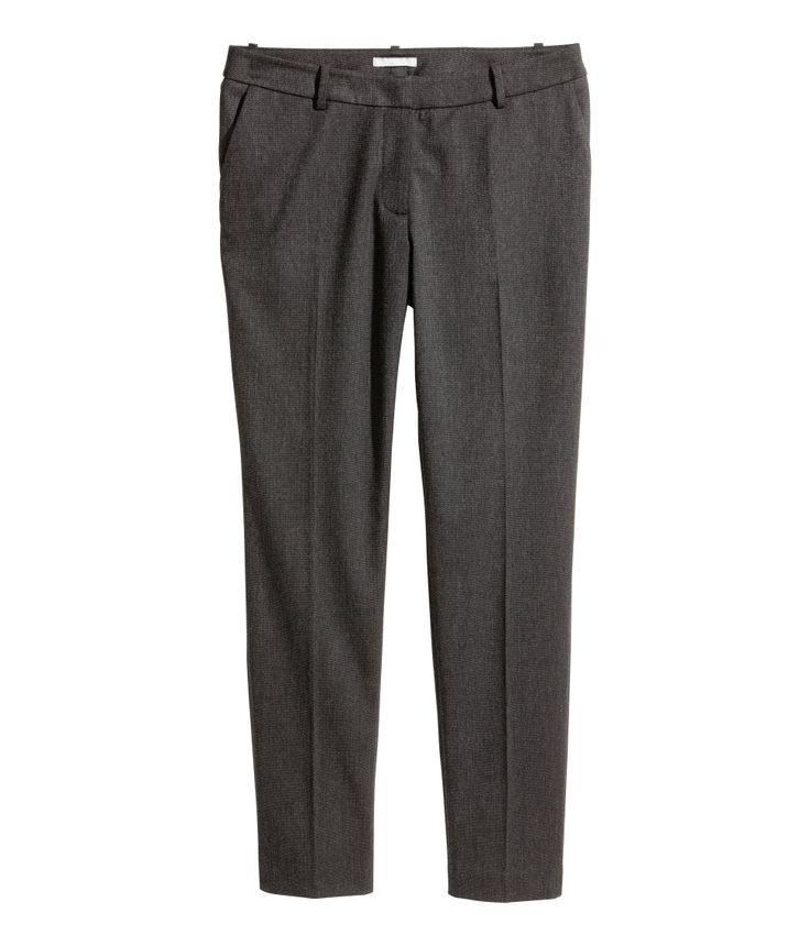 Pantalón de traje | Gris oscuro | MUJER | H&M MX