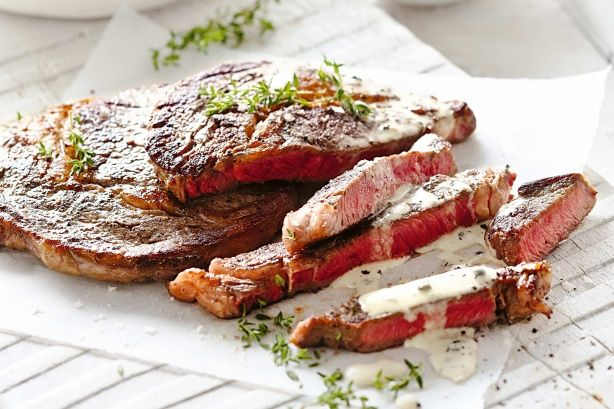 Create a gourmet meal in minutes with this delicious steak with pepper cream and kipfler chips recipe.