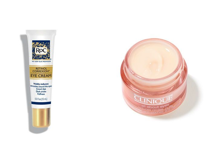 The Best Eye-Treatment Product: Roc Retinol Correxion Eye Cream ($23, walgreens.com) and Clinique All About Eyes ($31, clinique.com)