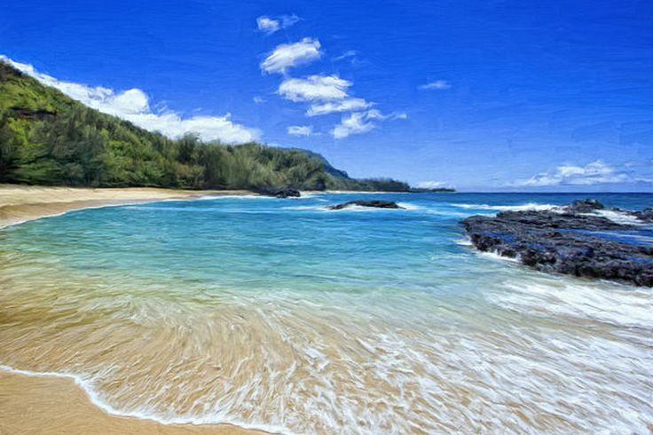 Image result for Lumahai Beach in Kauai, Hawaii