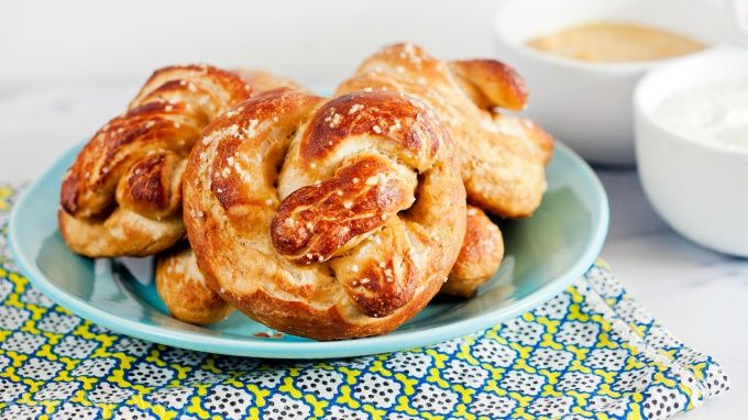 Homemade pretzels that are perfectly golden and great for dipping