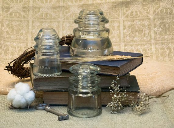 Antique Clear Hemingray Electrical Insulators on Etsy, $5.00