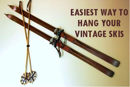 Vintage Winter explains the easiest way to hang your vintage skis.  www.vintagewinter.com