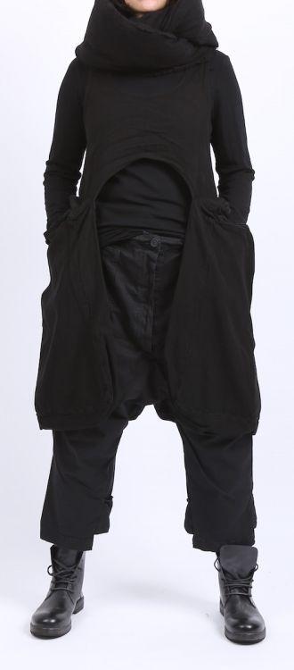 Visions of the Future: rundholz dip - Taschenkleid Cotton black - stilecht - mode für frauen mit format...