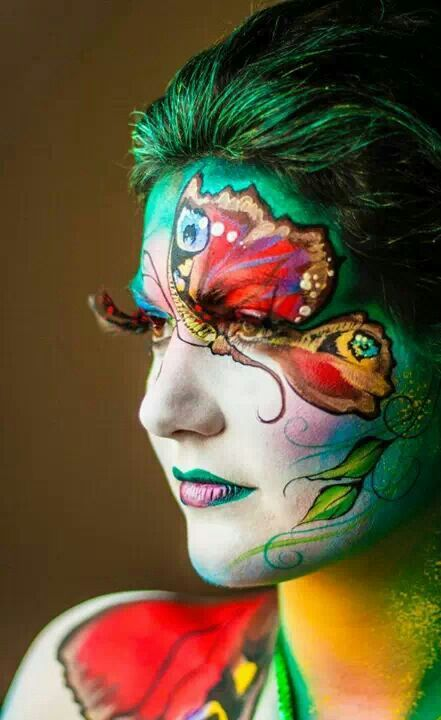 Girl Face Painting and Tattoos: design gallery