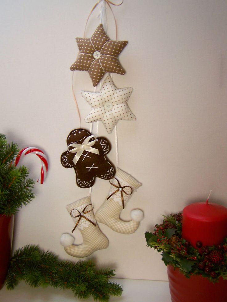 Lebkuchenmann♥Stern♥Nikolausstiefel♥Girlande♥Weihnachten♥nach Tilda Art