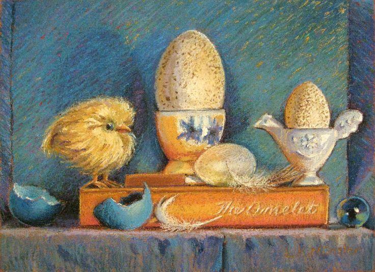 """Just Hatched"", 2012 pastel painting by Lorraine Krahn Muenster"