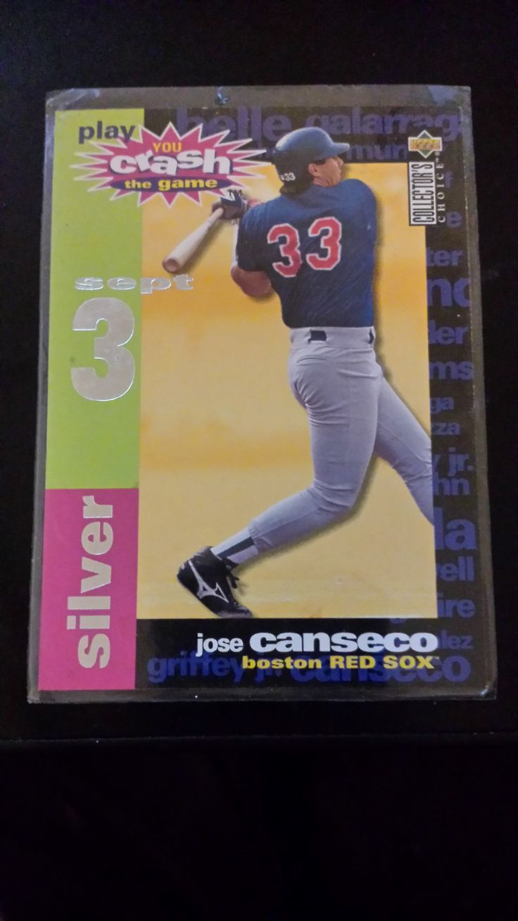 Jose Canseco 33 Boston Red Sox Outfield Jose