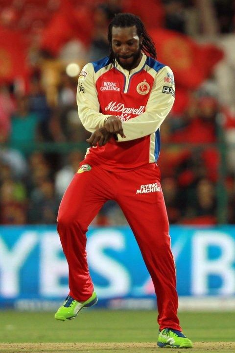 Chris Gayle does the Gangnam Style after getting a wicket!