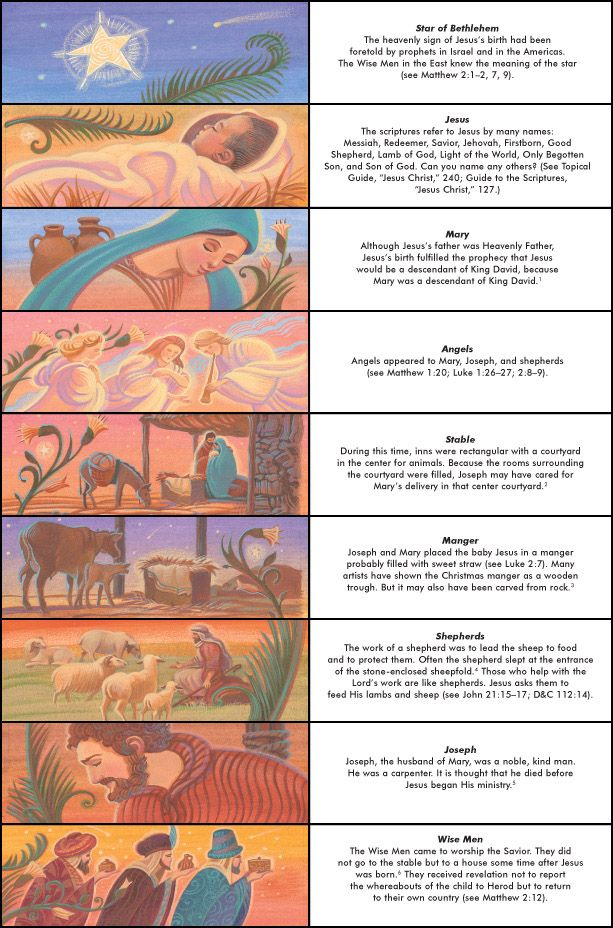 Nativity Figures and Facts (don't print the whole thing just the facts and use your own nativity pieces)