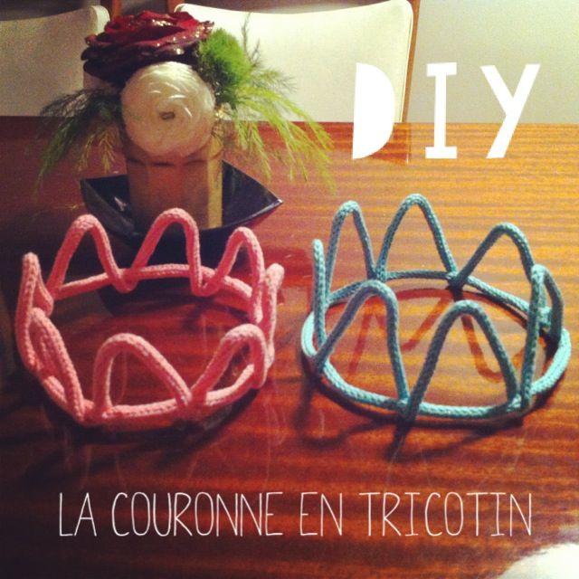 DIY La couronne en tricotin http://lareinedeliode.com/diy-couronne-en-tricotin/
