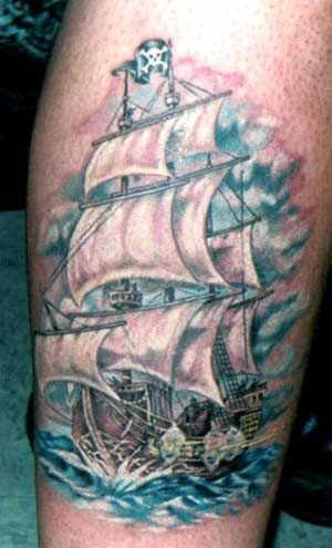 Pirate Ship Tattoo Sleeve | Pirate ships tattoos and a little history about them.
