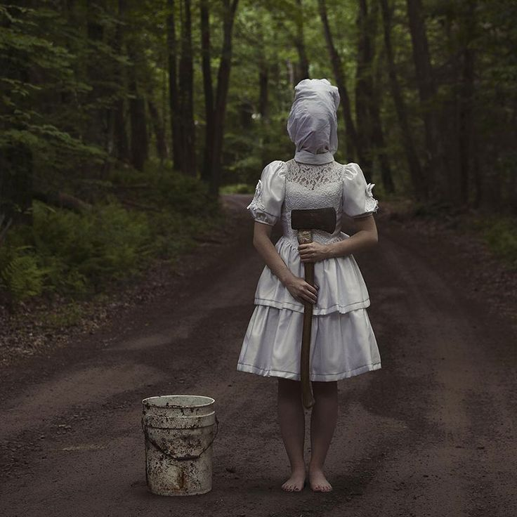 Horror Pics 6 Christopher McKenney is a conceptual photographer from Pennsylvania who manages to find true art in the dark and twisted. He specializes, as you'll see, in horror and surrealist photography.  Most of the subjects in his photos are faceless, and disembodied in some way. Even though you can't directly see their faces, you can see the pain behind the veil. As you might imagine his pictures are more than a little creepy.