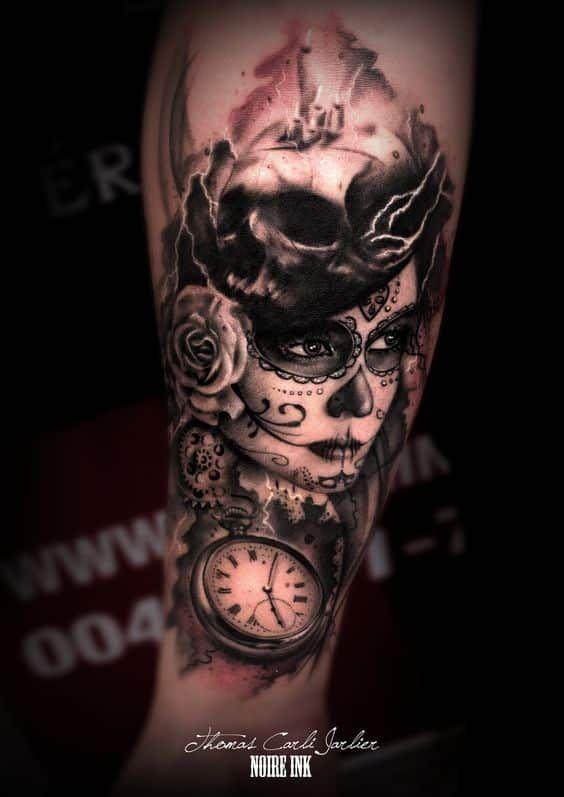 Te Mostramos Diseños De Tatuajes De Catrinas Para Hombres Y Mujeres