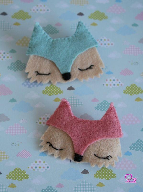 Passion renard : les petites broches