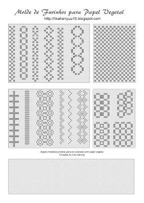 Lika Hanyuu - Craft -Papel Planta XD: [patrón de plantilla] Seguimiento de orificios del papel - Varios