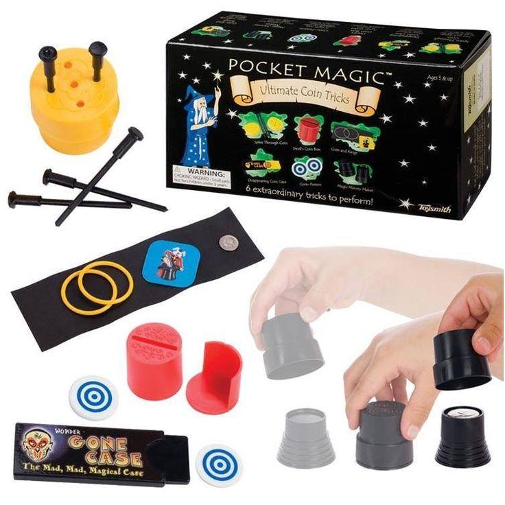 Realice estos seis simples trucos de magia con monedas para entretener y sorprender a sus amigos. Edad: 5+