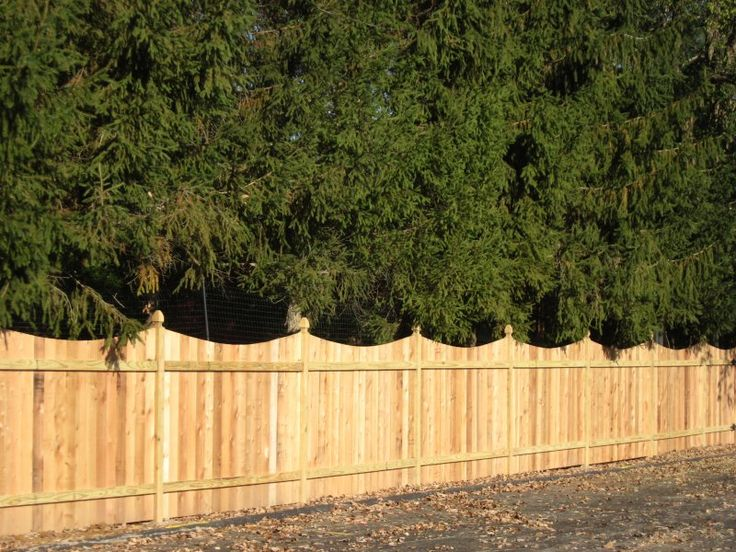 6 Cedar Scalloped Privacy Fence With French Gothic Posts