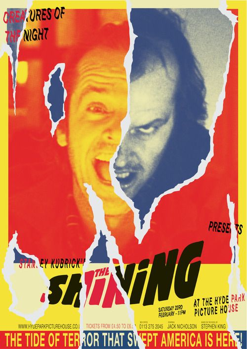 Poster created for a screening of The Shining at the Hyde Park Picture House in Leeds, UK.  Artist: Abbas Mushtaq