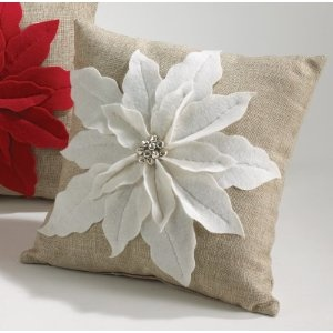 pointsietta pillow, I think we could make these Nikki!!!
