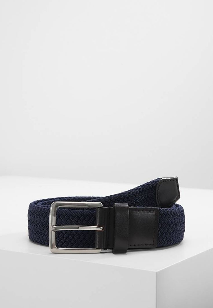 Pier One. Cintura - navy/dark brown. Composizione:100% Poliestere. Chiusura:Fibbia. Larghezza:3.5 cm nella taglia 85. Fantasia:monocromo