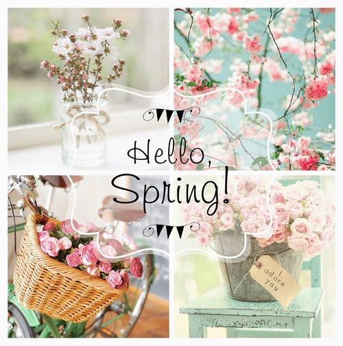 Hello Spring Collage. Hello Spring Collage.