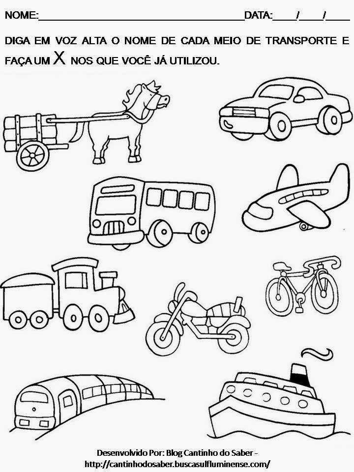 Resultado De Imagem Para Desenhos Sobre Meios De Transporte Para