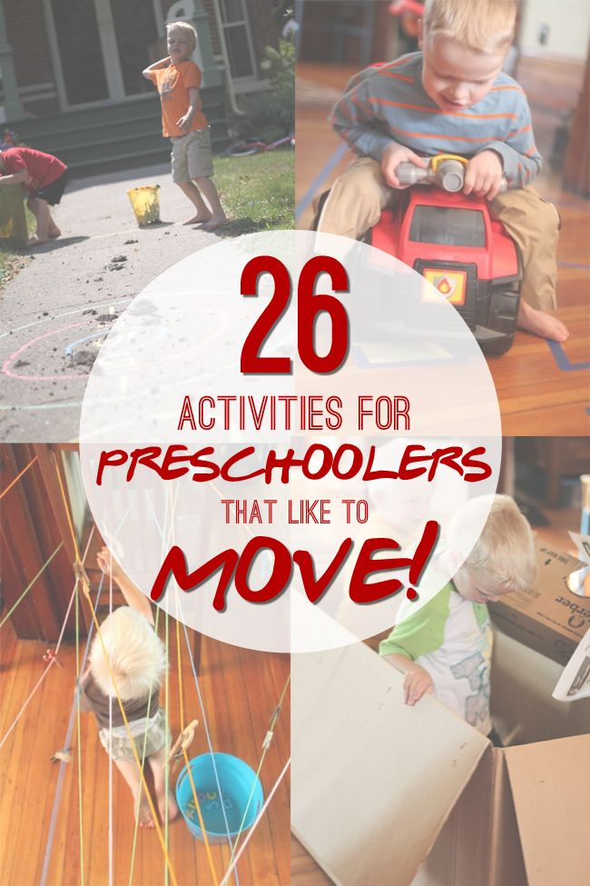 26 Gross Motor Activities for Preschoolers that Like to MOVE