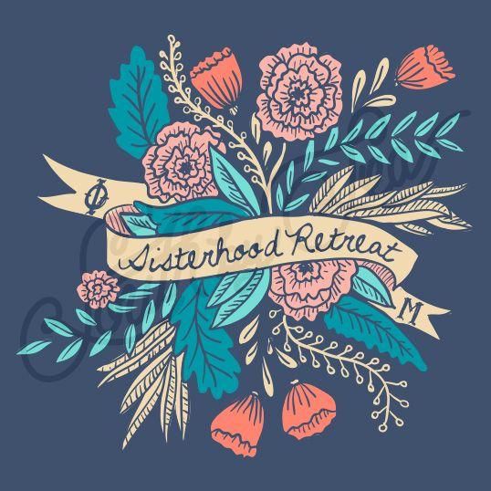 Sorority Social Phi Mu Floral Banner Sisterhood South By Sea