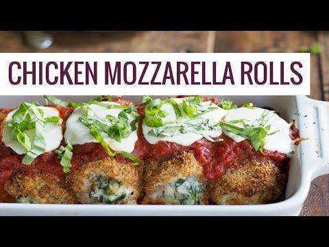 Baked Mozzarella Chicken Rolls - Pinch of Yum
