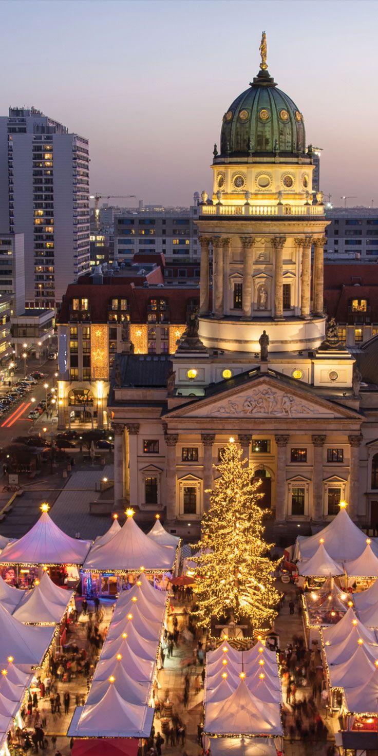 The Gendarmenmarkt Christmas Market in Berlin, Germany.