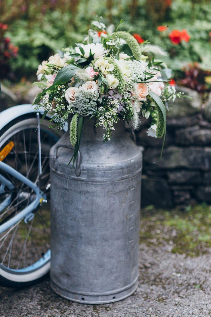Milk Urn:  Narrative Hire  //  Florals: The Floristry  //  Styling:  Tebbey & Co.  //  Image:  Rachel Hayton