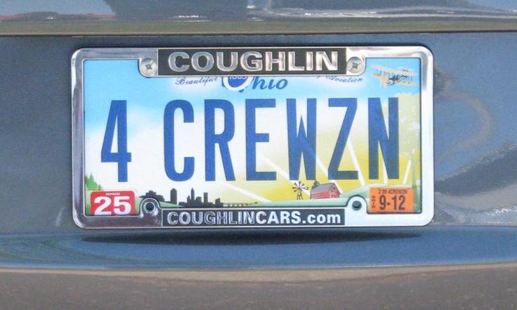 Chevy Corvette vanity license plates
