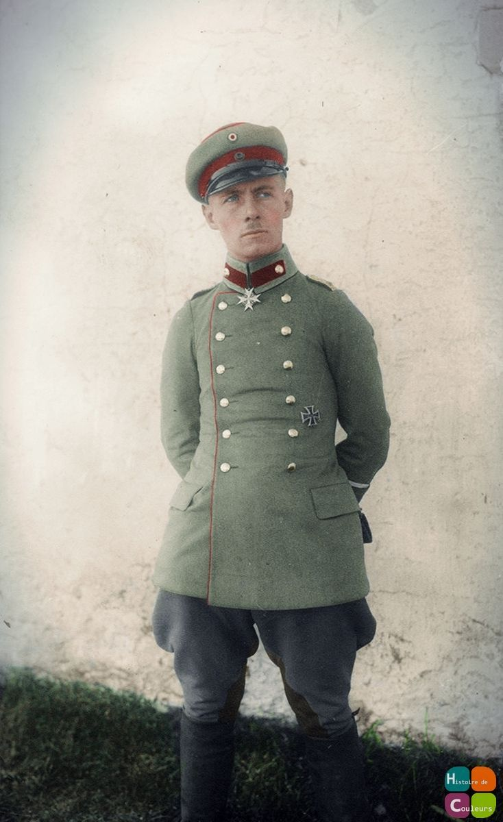 A Young Rommel proudly poses with his 'Blue Max'