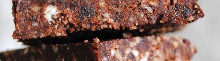 Ωμά Brownies με ταχίνι και αποξηραμένα φρούτα !Συστατικά:-200γρ αποξ.χουρμάδες…