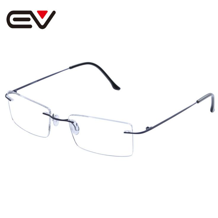 Fashion Man Women Rimless Titanium Glasses Frames Clear Lens Optical Glasses Frame titanio gafas sin montura marco EV1353