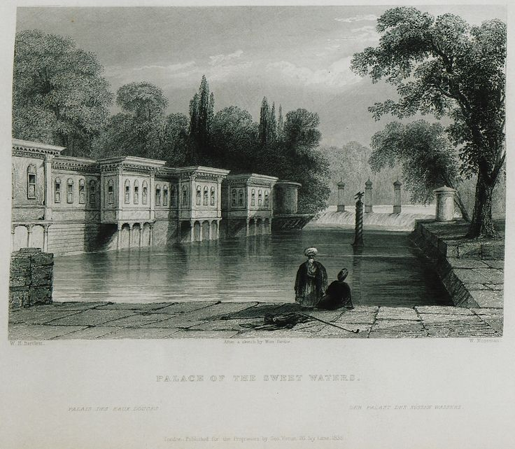 İstanbul-Kağıthane - Çağlayan Palace-(The Beauties of the Bosphorus; by Miss Pardoe, from drawings by W. H. Bartlett.)'1874