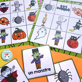 French Halloween Bingo: fun way to get your students practicing Halloween-themed vocabulary in your French classroom! #français #frenchimmersion #corefrench #teachingfrench #frenchhalloween