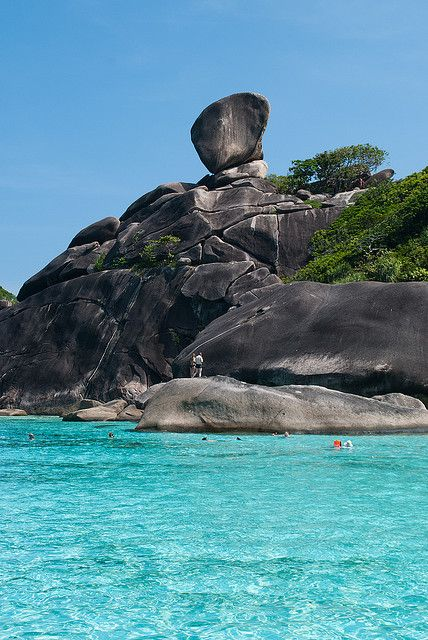 Similan Island - Thailand I want to go someplace with water this color! ✈ www.pinterest.com/WhoLoves/Travel ✈ #travel #thailand