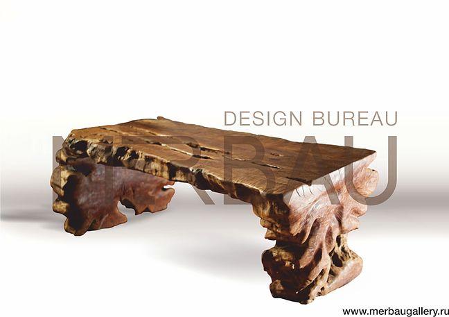 wood table NUADA, litchi slab