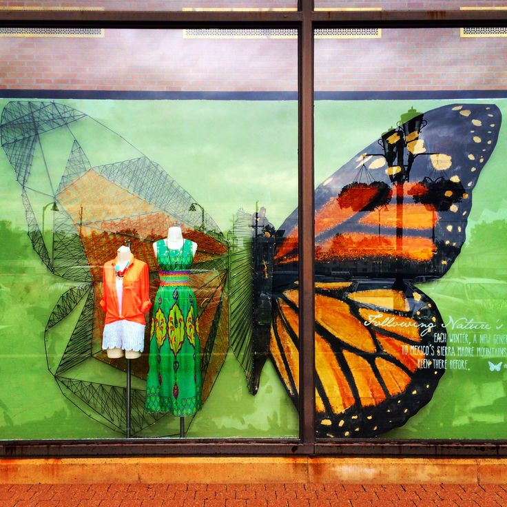 Amazing Butterfly Window Display @Anthropologie