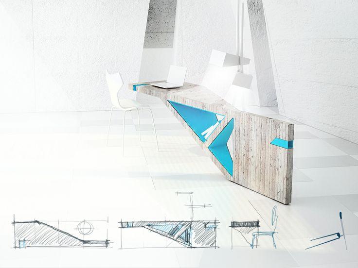 ejercicio de diseño D H - mueble II - 3d max + vray + photoshop