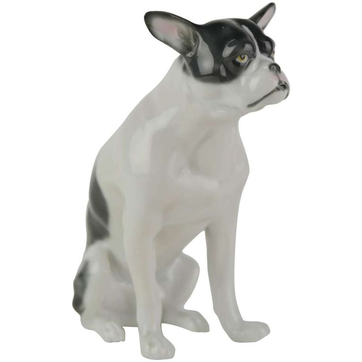 Fritz Pfeffer Porcelain French Bulldog Sculpture  1