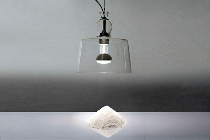 Produzione Privata Lampada Acquatinta, blown glass and shiny chromed metal, 1996 Ph. Michele De Lucchi