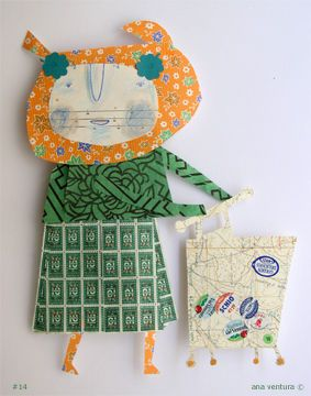scraps of paper doll #14 by ana ventura, via Flickr