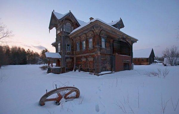 Casas de madeira abandonadas, Rússia - 2