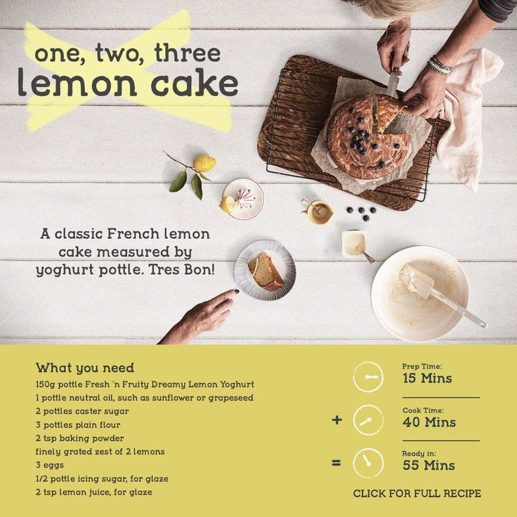 A classic French lemon cake measured by yoghurt pottle. Tres Bon! Make this recipe. 55 mins – Serves 12