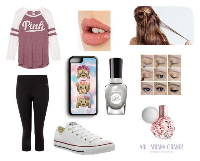 """Lazy day"" by pocock on Polyvore featuring NIKE, Converse, Samsung, Charlotte Tilbury and Sally Hansen"